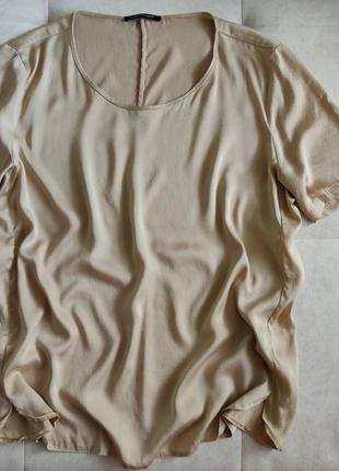Шелковая блуза футболка luisa cerano 100% натуральный шелк
