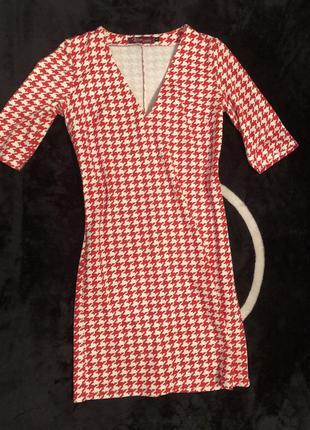 Платье на осень 🍂 красное с белым karree