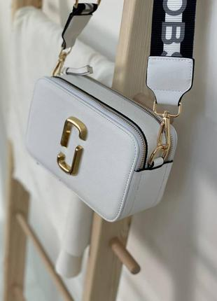 Кожаная белая сумочка marc jacobs эко кожа