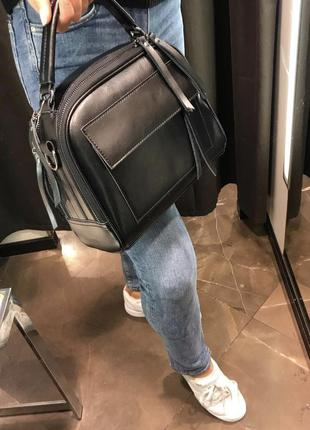 Кожаная женская сумочка чемоданчик