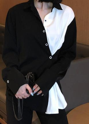 Стильная рубашка с длинным рукавом