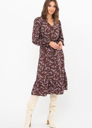 Стильное платье миди/3 расцветки