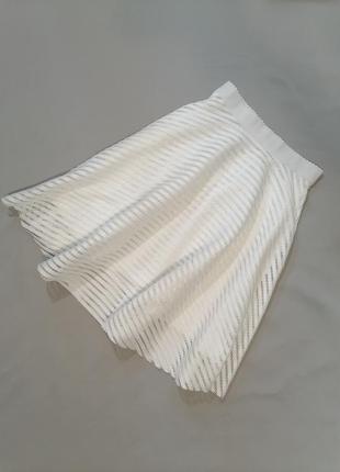 🟥 шикарная белая юбка держит форму миди в винтажном стиле