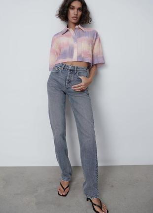 Zara прямые джинсы в наличии