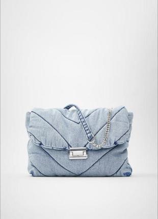 Джинсовая сумка zara