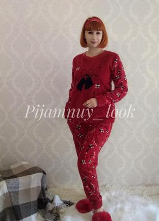 Женская теплая пижама. домашняя одежда для дому