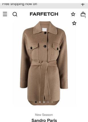 Sandro paris пальто из новой коллекции