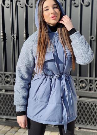 Куртка зимняя плащевка +мех барашек