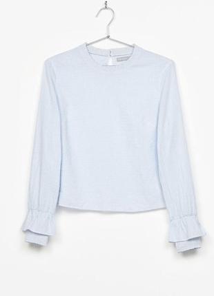 Блуза кроп топ в полоску укороченная bershka как новая