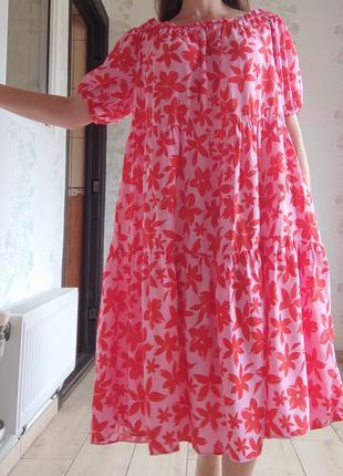 Ярусное платье в цветы / ярусна сукня
