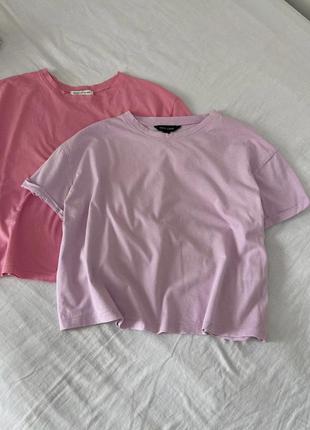 Укороченная футболка майка