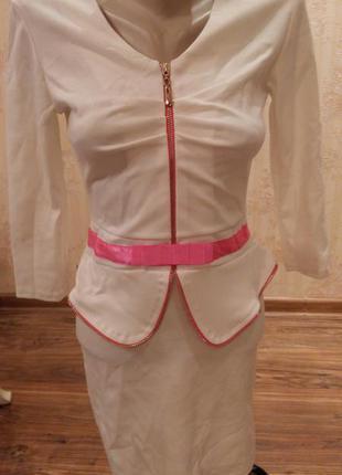Нарядное платье из французского трикотажа размеры 42, 44, 46