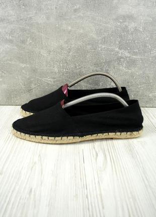 Новые стильные модные черные унисекс эспадрильи. размер 41-42.