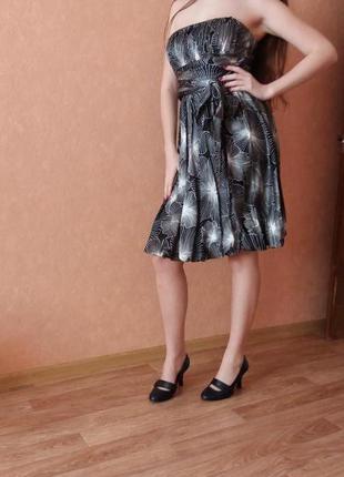 1+1=3 шелковое платье без бретелей