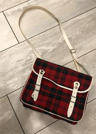 Сумка, сумочка в клітку, сумка через плече