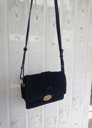 Кроссбоди сумка замшевая кожа натуральная сумка через плечо мини сумка