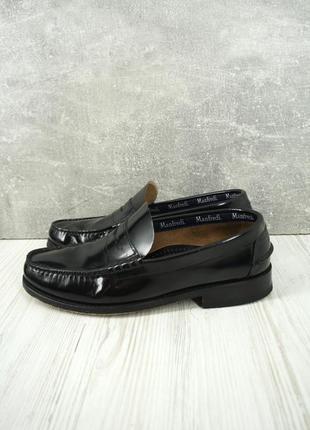 Стильные брендовые лаковые туфли, пенни лоферы manfredi . размер eur 41.