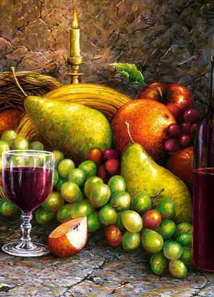 """Пазлы castorland 1000 элементов """"вино и фрукты"""" (c-104604/1100400)"""
