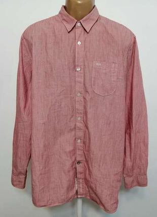 Рубашка john rocha, 100% хлопок, xl, в отличном сост.!