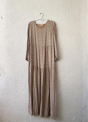 Ярусное макси платье