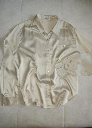 Шелковая рубашка блуза 100% натуральный шелк
