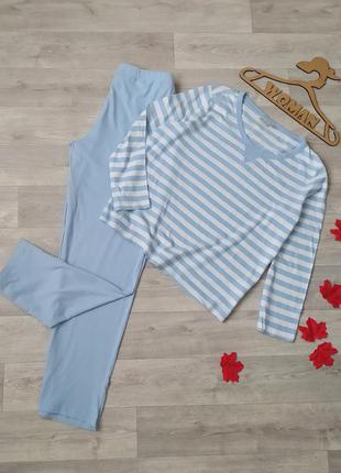 Костюм пижама для дома сна коттон blue motion