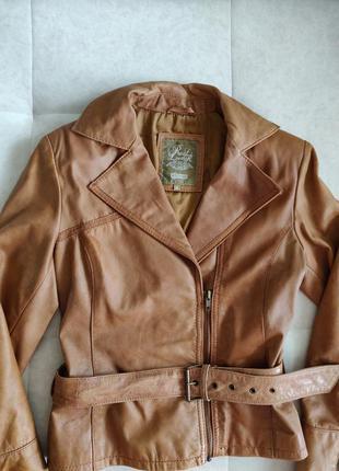 Натуральная кожаная куртка косуха stradivarius