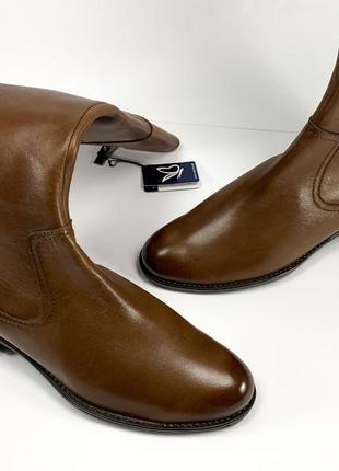 Ботфорты caprice ботильоны высокие кожаные коричневые 36 размер на флисе