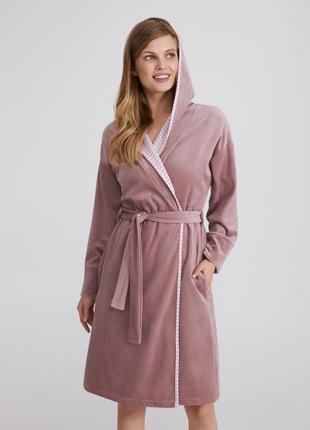Велювовый халат foxglove от тм ellen