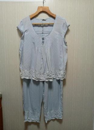 Шикарная пижама батал 56-58 💯 хлопок (13)