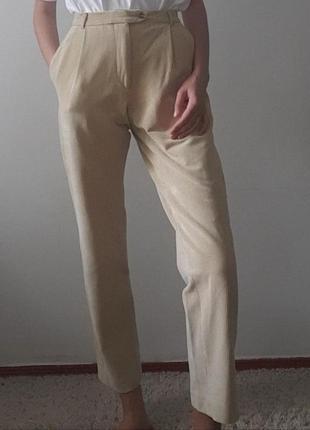 Бежевые вельветовые женские штаны