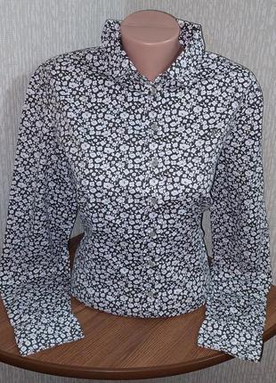 Рубашка в цветочный принт marc o polo stretch, 💯 оригинал, молниеносная отправка ⚡💫🚀
