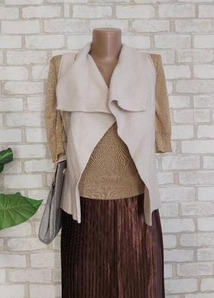 Фирменная marc o polo мега тёплая жилетка/накидка со 100 %шерсти, размер с-м