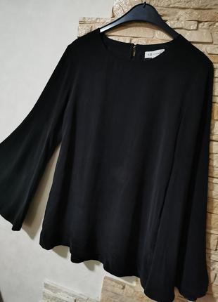 Оригинальная шелковая блузка, свободные рукава
