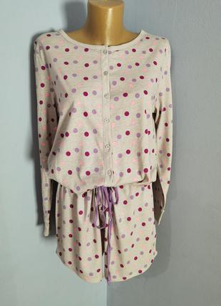 Пижамка ромпер трикотажная размера 12-14/m-l