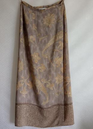 Стильная юбка прямая длинная на запах  marks&spencer