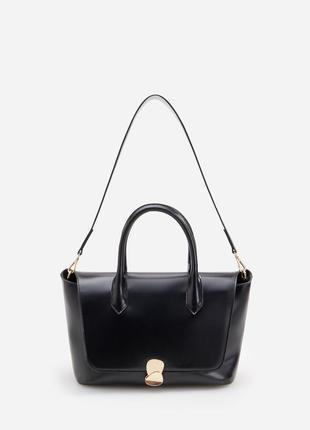 Reserved сумка-портфель в офисном стиле с оригинальной застежкой [сумка у діловому стилі]