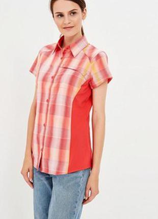 Натуральная рубашка в клетку columbia