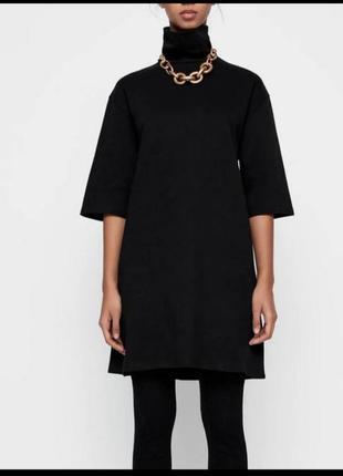 Чёрное платье гольф zara новая коллекция