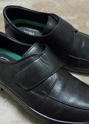 Туфли кожа ные муж.44р.pavers.clarks индии