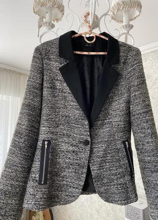 Пиджак жакет твидовый тёплый
