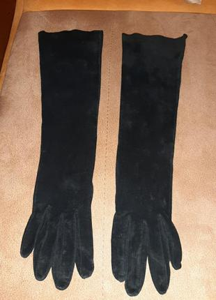 Замшевые перчатки h&m
