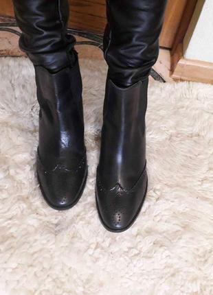 Сапоги ботинки черные кожа индия carvela