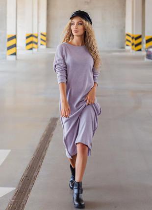 Теплое платье оверсайз разные цвета
