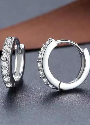 Серьги женские серебро