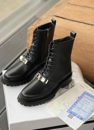 Ботинки бренд осень люкс чёрные