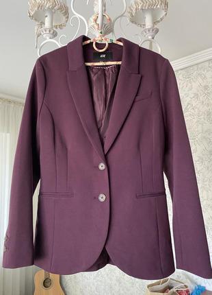 Пиджак жакет бардового цвета h&m
