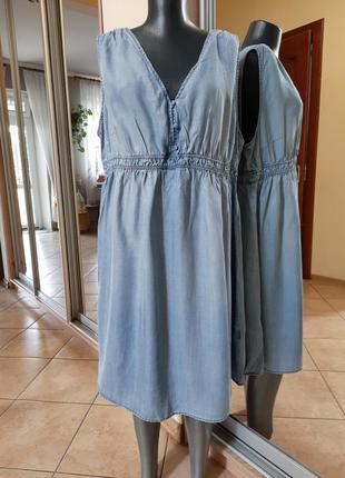 Джинсовое платье 👗большого размера