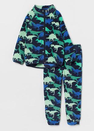Тёплые флисовые костюмы h&m мальчишкам