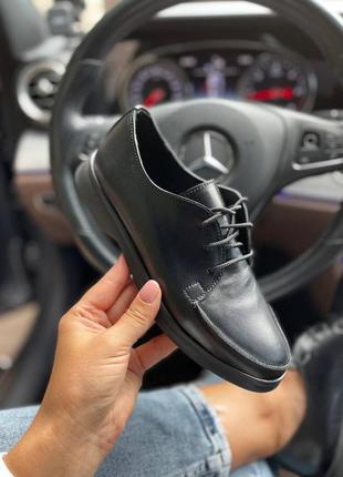 Рр 36-40.чëрные туфли классические   из натуральной кожи